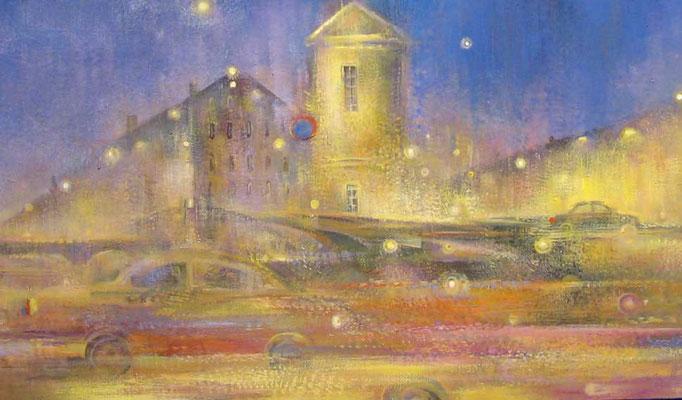 Надежда Анфалова — «Ночой город». Холст, темпера, 70*100 см, 2007.