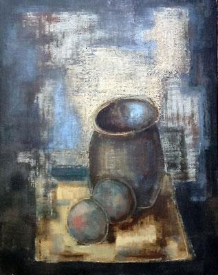 46x53. Oleo sobre lienzo. Bodegón