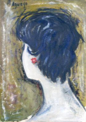 1958. 42x30. Oleo sobre lienzo. Fernanda