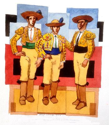 700 €. 31x41 cm.  Los hermanos Francisco José y Juann Fuentes,.