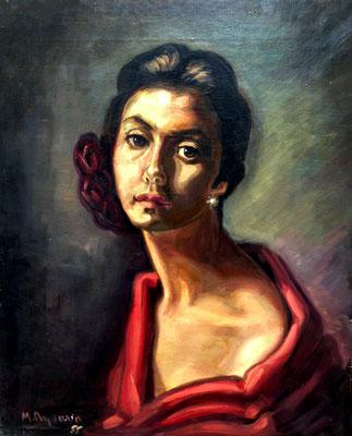 1955. 55x46 cm. Oleo sobre lienzo. Fernanda