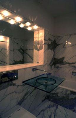 Badezimmer (Calacata Marmor)