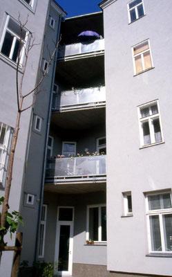 Hofseitige neue Loggien - Foto © Knauer Architekten