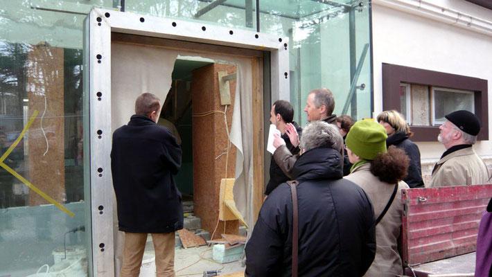 """""""ORTE vor Ort"""" - Baustellenbegehung organisiert von ORTE-Niederösterreich - Foto © Knauer Architekten"""