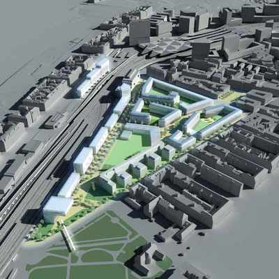 Städtebauliches Entwicklungsgebiet der ÖBB im Bereich des neuen Hauptbahnhofs Wien-A, 2009 - 1. Nachrücker