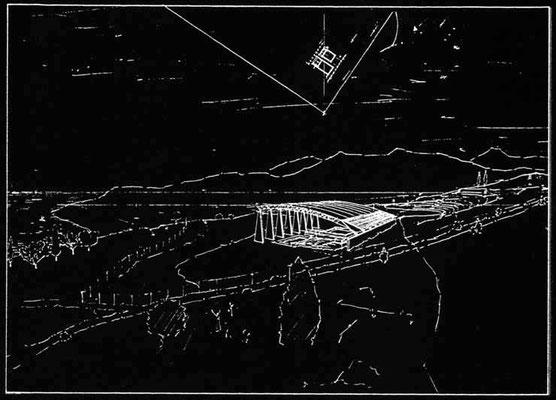 Naiskos D+E - Überdachung antiker Mosaikböden, Aigeira-GR, 1991