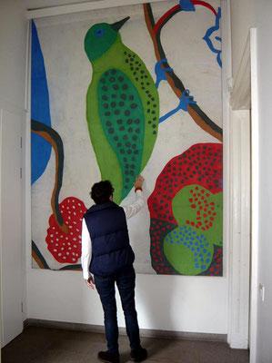 Österreich. Pavillon für die Weltausstellung in Sevilla-E: Prototyp der Fassade in Originalgroesse - Foto © Knauer Architekten