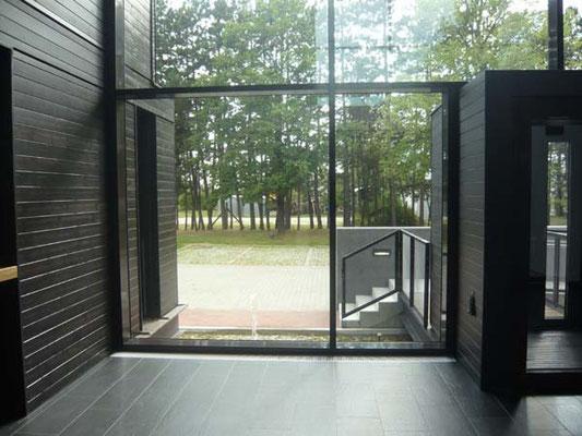Blickbeziehung Innen-Außen - Foto © Knauer Architekten