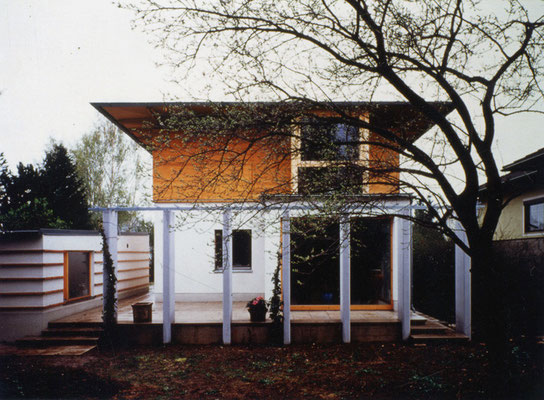 Neues Obergeschoß aus Holz                                                                                                                    Foto © M. Spiluttini
