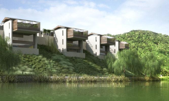 40 Einfamilienhäuser samt Klubhaus in Changsha-CN, 2014-2016
