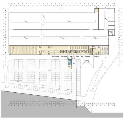 Zwischengeschoß Werkstättengebäude