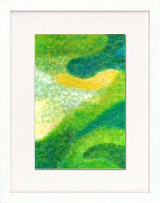 セロハン画™『Tape-layer Works.3』/ 2008年制作 / 21×29.7cm /特注カラーセロテープ