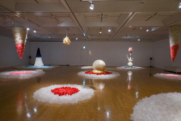 2015年 横浜市民ギャラリーあざみ野『瀬畑  亮 セロテープアート®︎展 2015 in あざみ野』展示風景