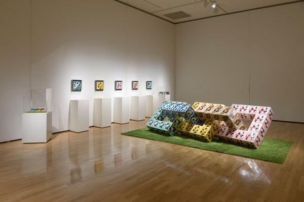 2012年 川越市立美術館『開館10周年・市制施行90周年記念特別展Ⅱ タッチアート! 2』展示風景