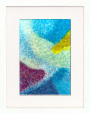 セロハン画™『Tape-layer Works.2』/ 2008年制作 / 21×29.7cm /特注カラーセロテープ