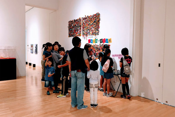 2018年 安城展『みんなのセロハン画』展示風景