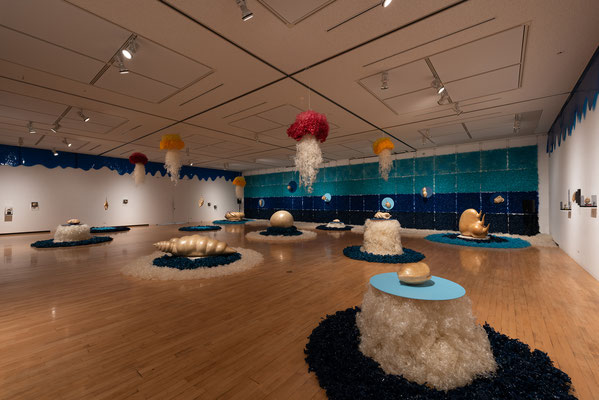 2018年 安城展  約300㎡の大型インスタレーション作品『セロ深海の不思議な生き物たち』展示風景