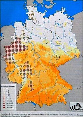 Karte: Stift. Vogelmonitoring BRD