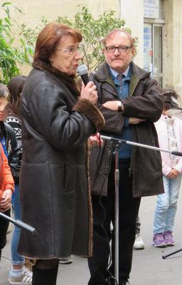 Jean-Marie Quiesse et Nicole Liza (ville) Comité de quartier st Roch-Ecusson Montpellier - printemps rue Roucher 2016 Photo D. Ferré