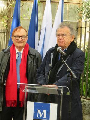 Jean-Marie Quiesse - Max Lévita - Comité de quartier st Roch-Ecusson - 14 12 2019 - photo D. Ferré