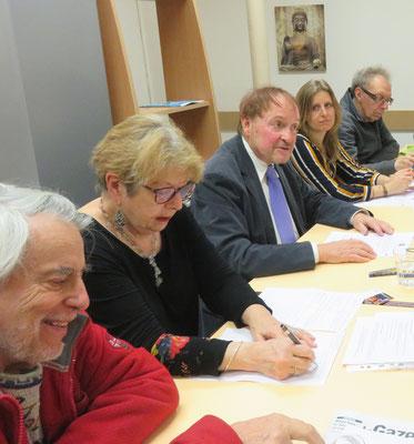 Raphael Segura- Geneviève Doumergue-Jean-Marie Quiesse-Laurenne Kocher-André Moutot- Comité de quartier st Roch-Ecusson de Montpellier - 24 janvier 2020