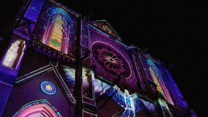 Comité de quartier st Roch-Ecusson- Lumières 2018 - Eglise saint Roch - photo JM Quiesse