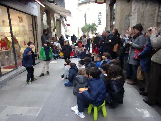 St Roch-Ecusson- Montpellier -Enfants école - Printemps des Poètes - mars 2017 - photo JM Quiesse