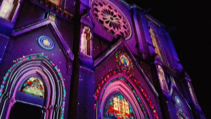 Comité de quartier st Roch-Ecusson- Lumières 2018 - Eglise saint Roch - photo JM Quiesse
