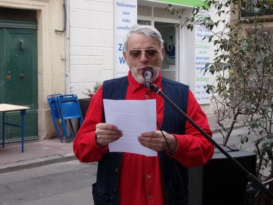 Raphaël Segura - Comité de quartier st Roch-Ecusson - montpellier - Printemps de la rue Roucher et des Poètes - 9 mars 2016