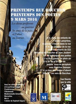 Comité de quartier st Roch-Ecusson Montpellier - printemps rue Roucher 2016