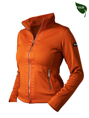 brick orange Fleece Jacke