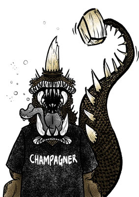 """Serie """"that's what happens if i drink too much of..."""" champagne"""