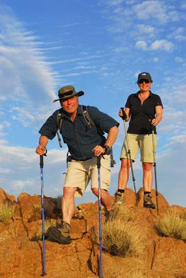 In den Felsen der Namib