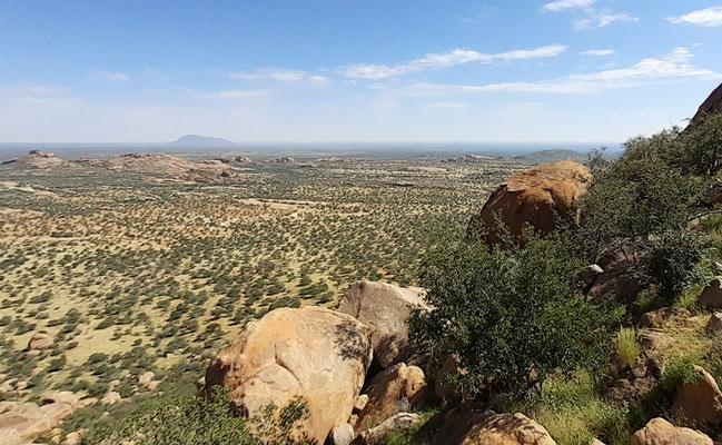 Aussicht vom Erongo nach Norden