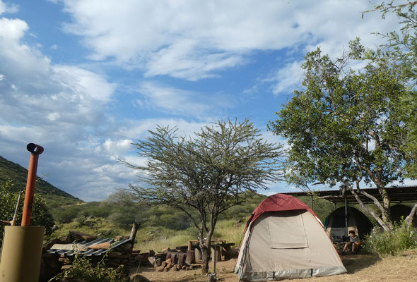 Camp in den Bergen