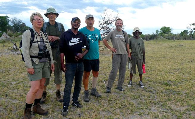 geführter Game-Walk, Okavango BOT