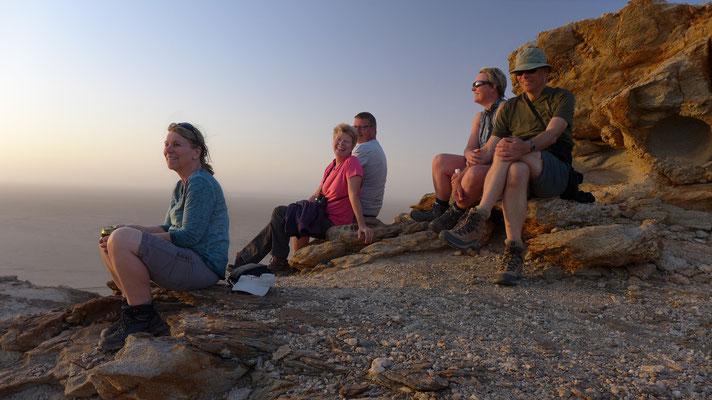 Sundown in der Namib
