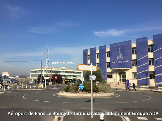 Terminal Jetex et Bâtiment Groupe ADP