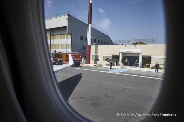 Arrivée à l'aéroport de Marseille Marignane.