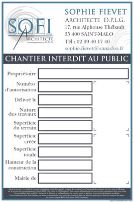 Panneaux de chantier SOFI Architecte - Logo&Co Communication Cancale