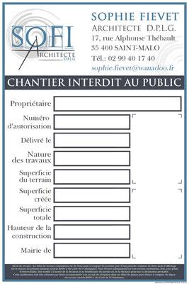 Panneaux de chantier SOFI Architecte - Logo&Co Communication Cancale