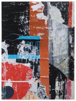 JU I, décollage, 16,8 x 12,6 cm, 2018