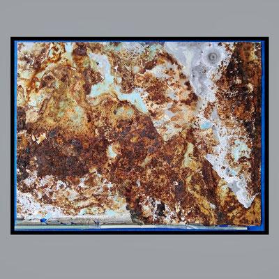 ferpla, rust on plastic on cardboard, 24,0 x 31,7 cm, 2020