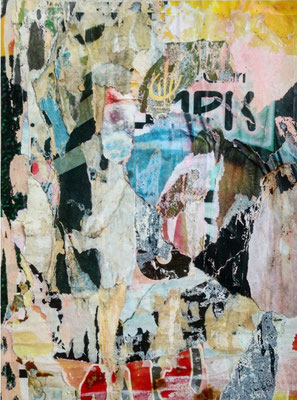 RK, décollage, 21,8 x 16,4 cm, 2019