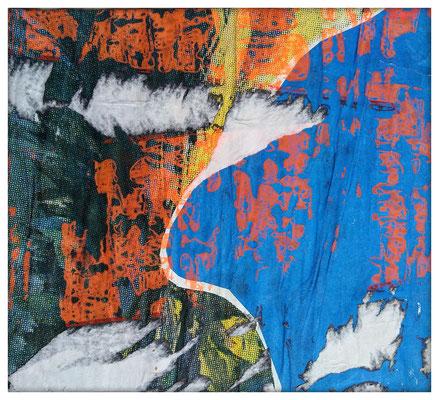 Kurve, décollage, 32 x 35,3 cm, 2019