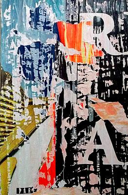 RA II, Décollage, 47 x 30,5 cm, 2017