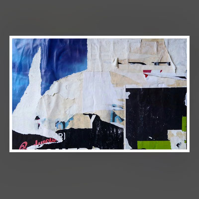 Budvar, décollage, 17,8 x 27,6 cm, 2020