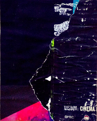 Cínema Lisboa, décollage, 24,2 x 19,3 cm, 2018