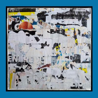 Hysteria, décollage, 41,2 x 42,2 cm, 2021