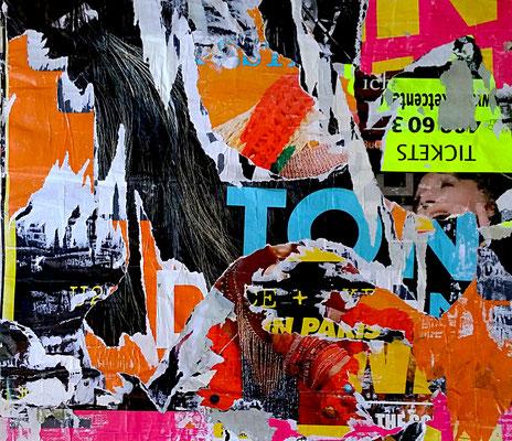 TON, décollage, 46,2 x 53,3 cm, 2018